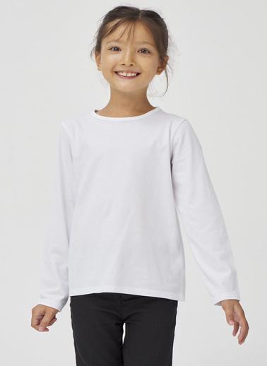 Penti Beyaz Kız Çocuk Crew Neck Organic Tişört Beyaz
